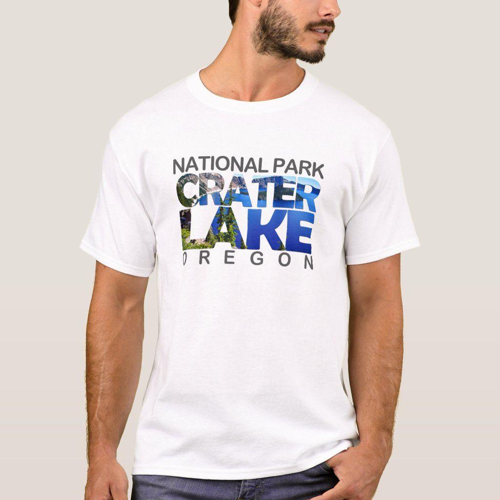 Crater Lake - Oregon T-shirt, Men's, Size: Adult L, White