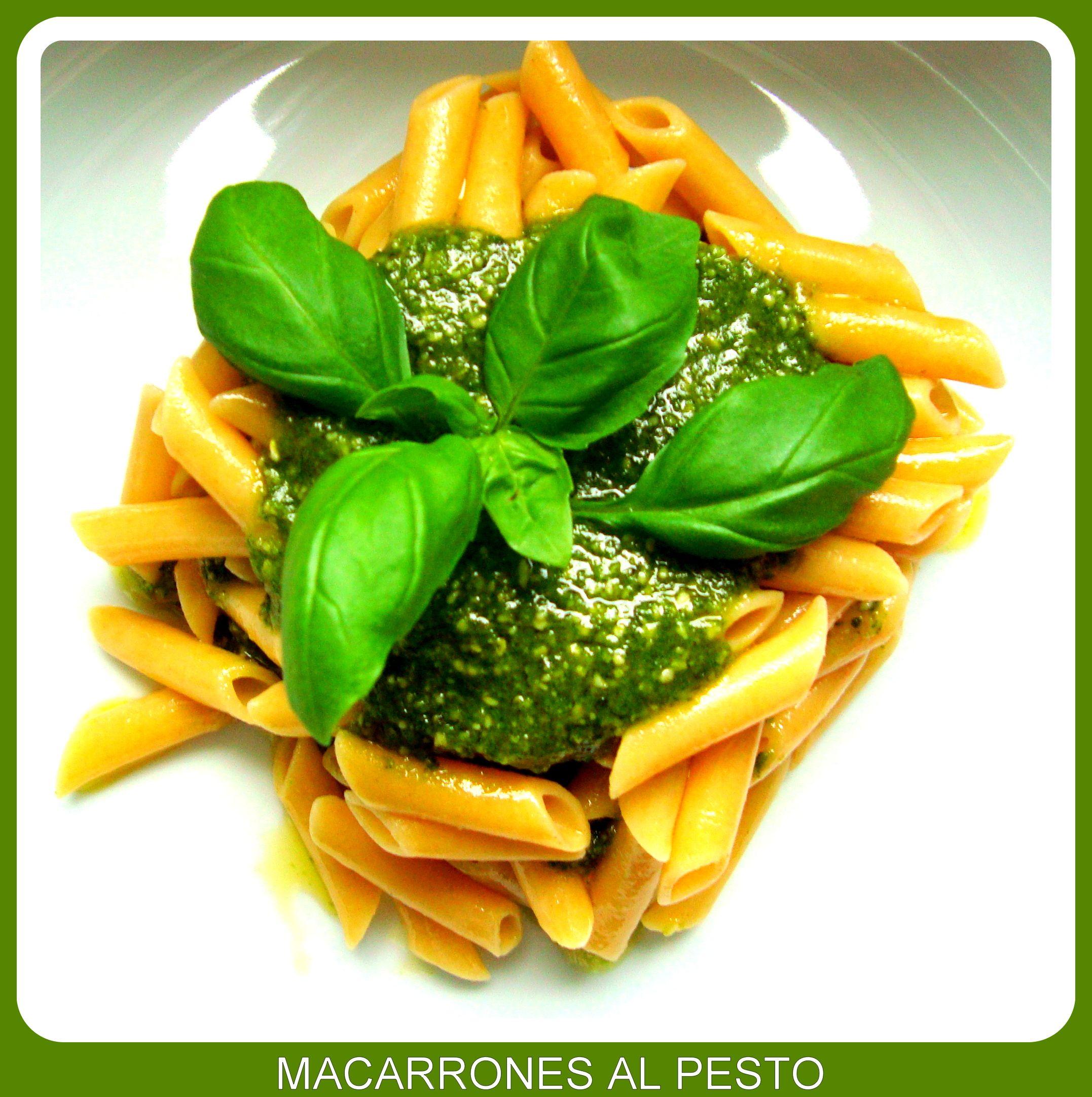 Macarrones Al Pesto La Pasta Mineralizante Macarrones Al Pesto Recetas De Comida Pasta Al Pesto