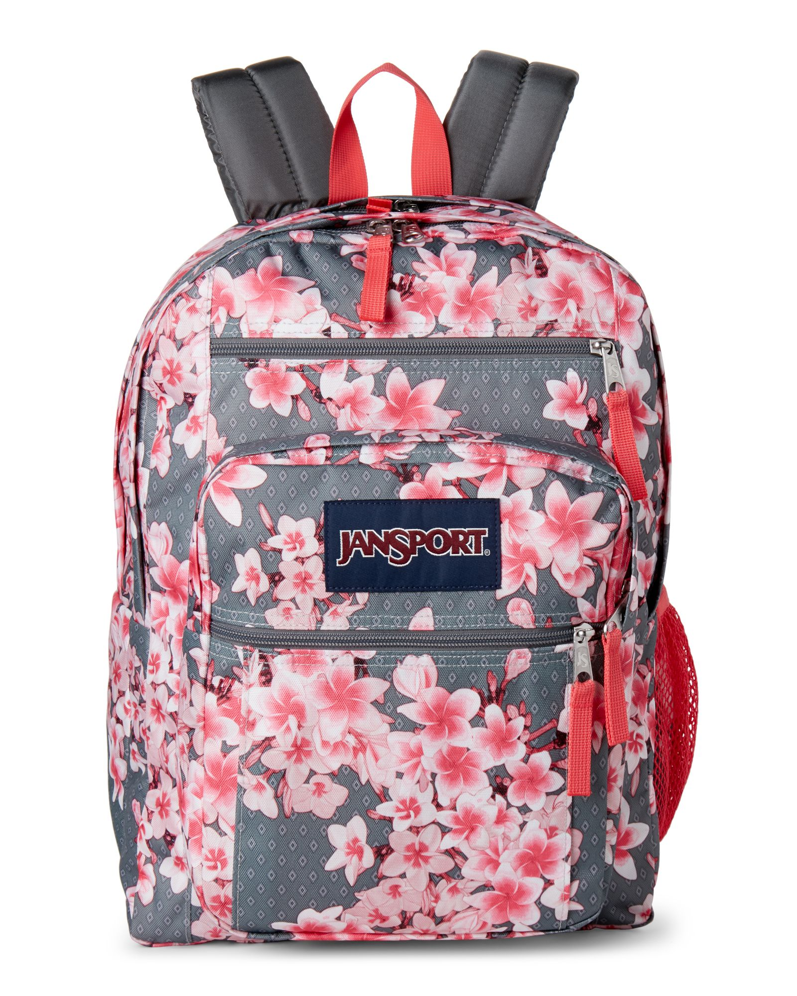 Pink Floral Big Student Backpack   *Luggage & Bags