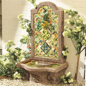 Chianna Fountain - traditional - outdoor fountains - Ballard Designs ...