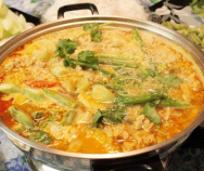 Pumpkin Soup with Grinded Pork Recipe (Canh Bí ?? Th?t B?m)