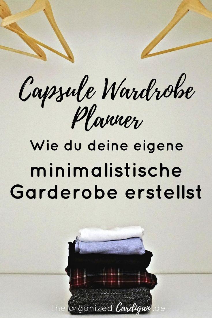 Capsule wardrobe planner wie du deine eigene for Minimalistischer kleiderschrank
