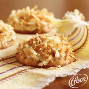 Frosted Banana Nut Cookies from Crisco® Use Homemade Cookie Mix