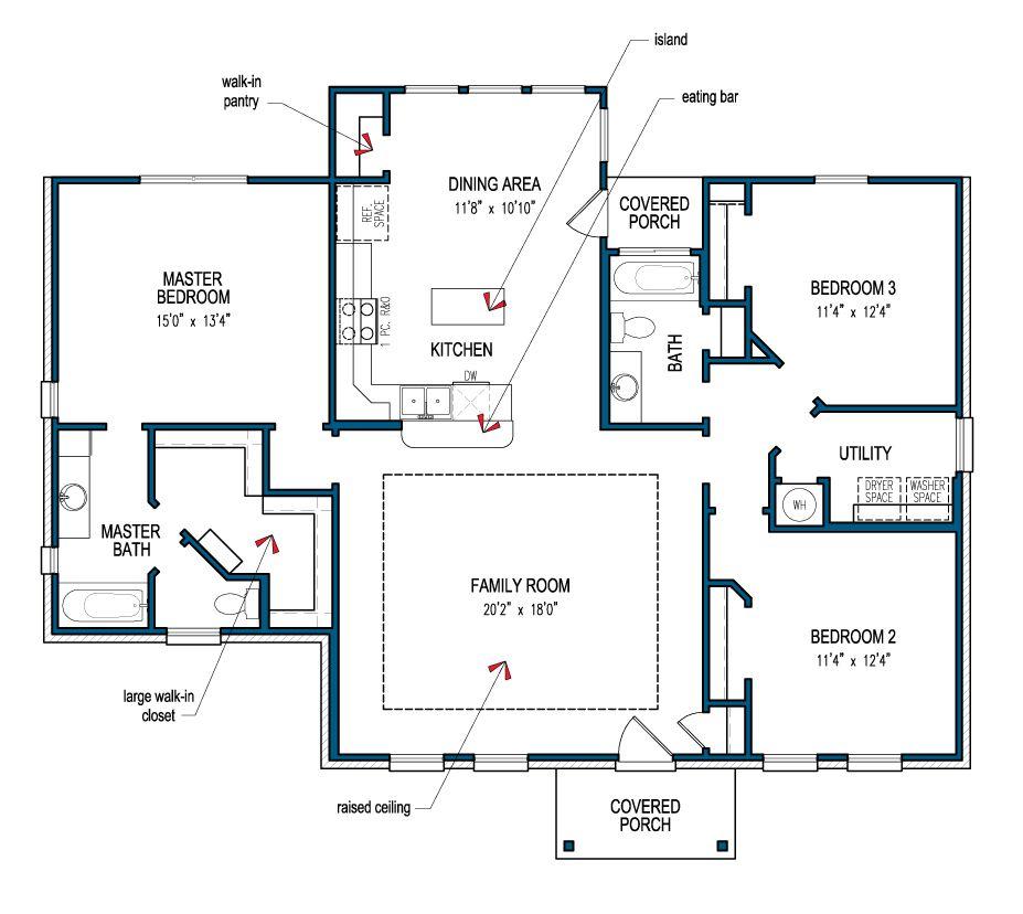 Tilson Home Bandera Floor Plans House Floor Plans Building Plans House