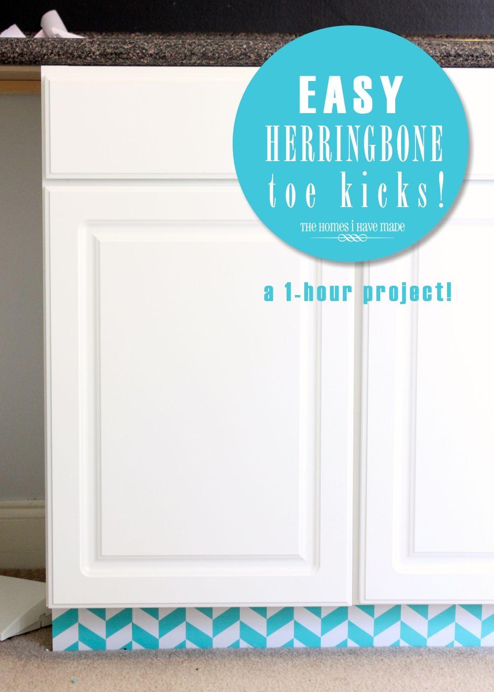 Easy Herringbone Toe Kicks Home Improvement Home Diy Home Decor