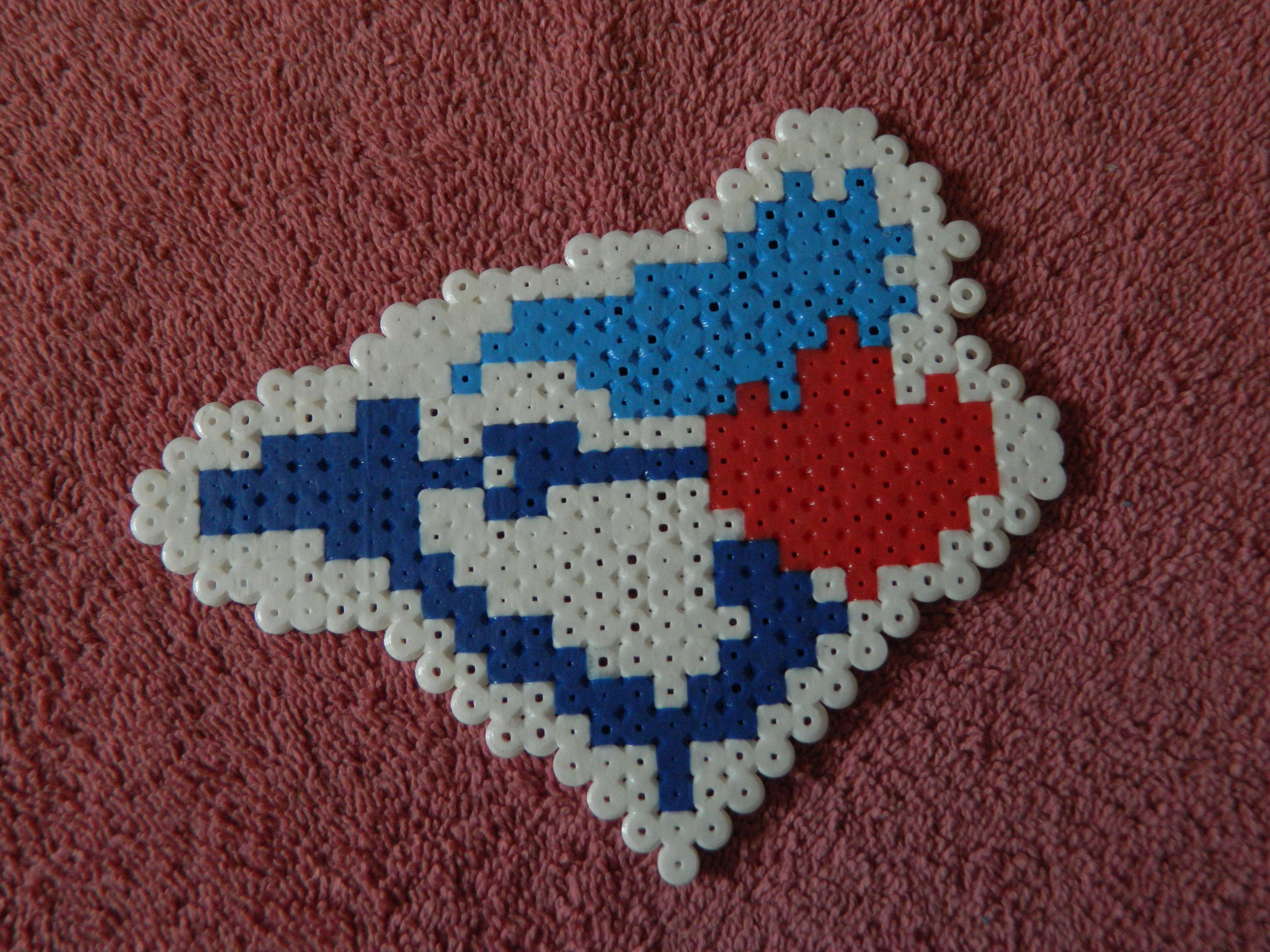 Toronto blue jays christmas ornament - To Stitch Onto A Round Knit Ornament Toronto Blue Jays Logo Perler Beads