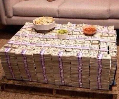 Most Expensive Coffee Table Ever All Cash Best Funny Pictures Walmart Humor Fail Jokes