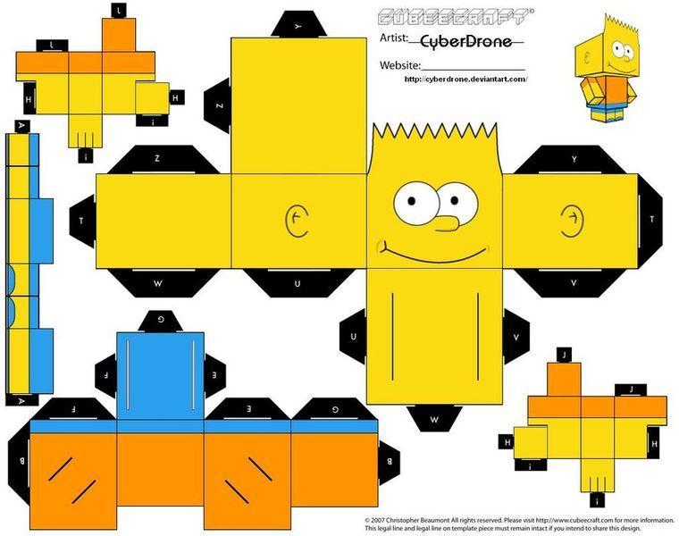 Pin De Cindy Ayala En Mis Muñequitos: Figuras Para Recortar Y Armar De Los Simpsons