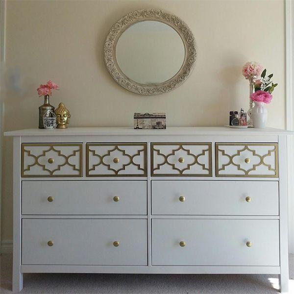 Overlay Jasmine Kit For Top Drawer Only Of Ikea Hemnes 8 Dresser