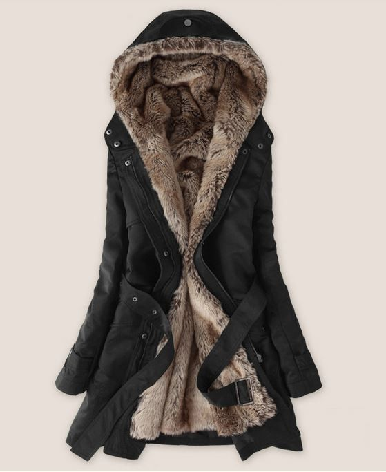 Women Faux Fur Hooded Jacket | Casual coats for women, Winter fur coats,  Winter coat