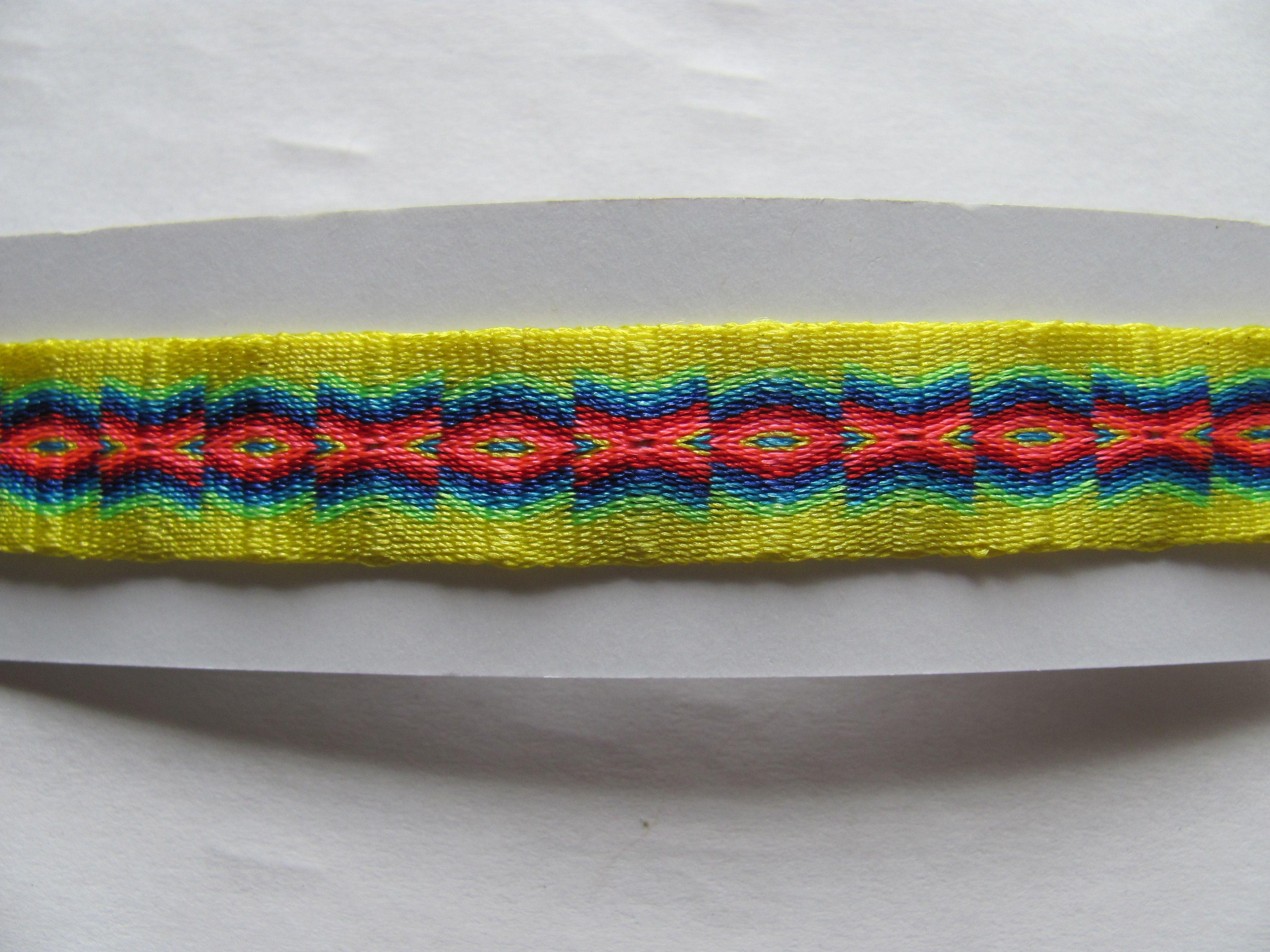 pulsera tejida en tablet weaving