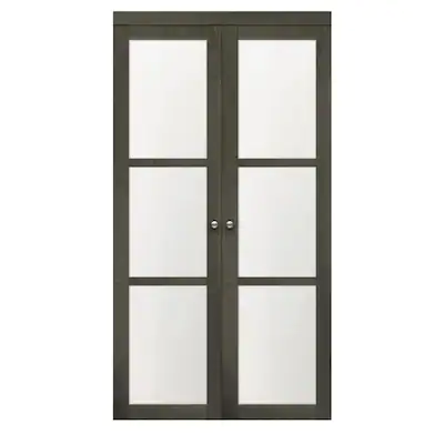 Reliabilt 36 3 Lite Ia 3145 Pivot Gray Mdf Pivot Door Hardware Included Common 36 In X 80 In Actual 36 In X 80 In 2020 Bifold Door Hardware Reliabilt Bifold Doors