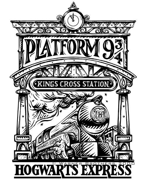 Platform 9 3 4 And The Hogwarts Express Harry Potter Drawings