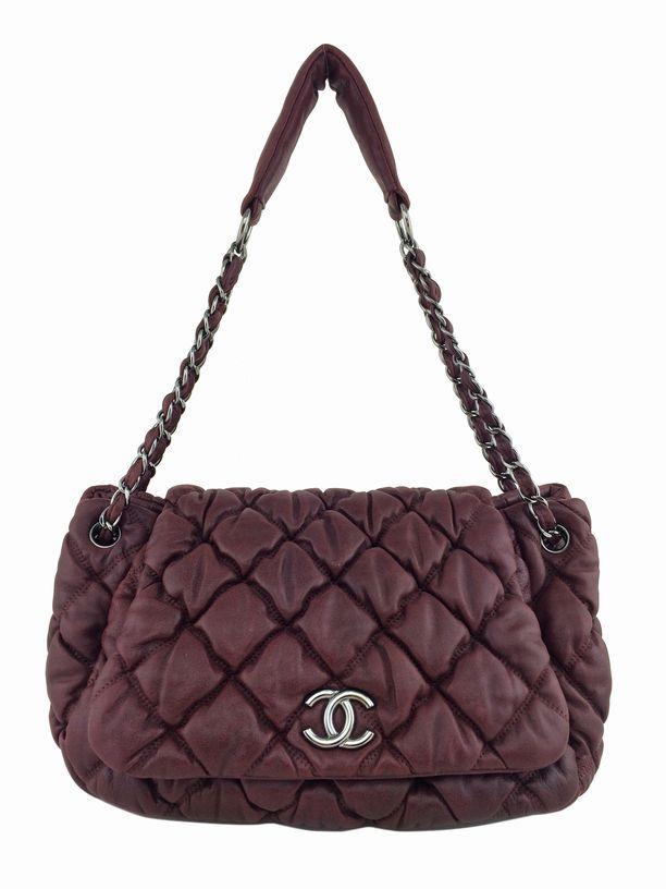 a329642f031008 Chanel Lambskin Bubble Quilted Accordion Flap Bag Burgundy | Consigned  Designs #chanel #chanelbag #purse #handbags #handbag #bagoftheday