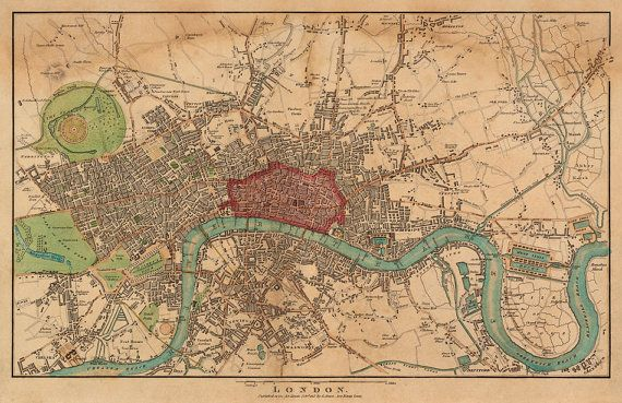 Antique map of london fine archival reproduction large wall map antique map of london fine archival reproduction large wall map of london up to 35 x 54 publicscrutiny Image collections