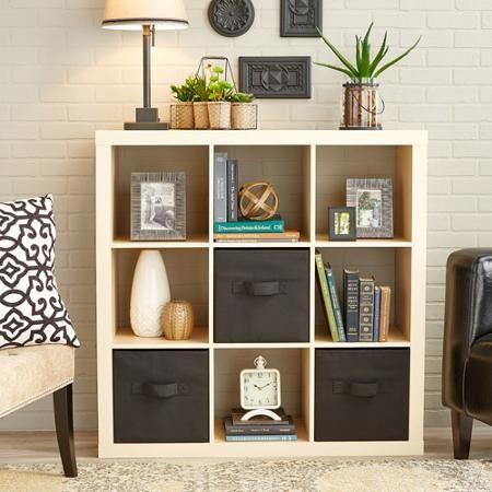 Better Homes Gardens 9 Cube Storage Organizer Espresso Walmart Com Cube Storage Decor Cube Storage Shelves Shelf Decor Living Room