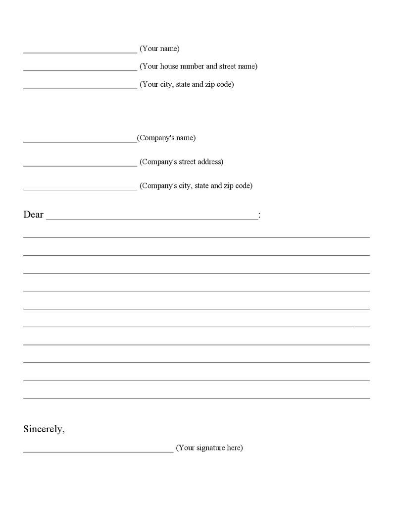 graphic organizer for business letters