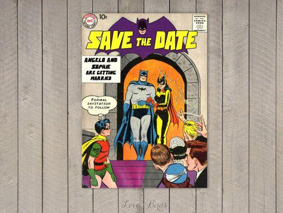 Comic Book Wedding Invitation Batman Save The By Sophieslovebirds
