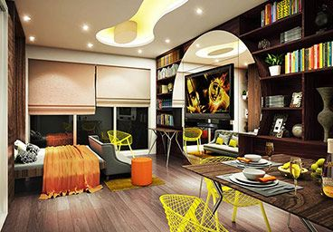 Studio Apartment In Noida samir mathur (architect - integral designs) for www.ohmygodnoida