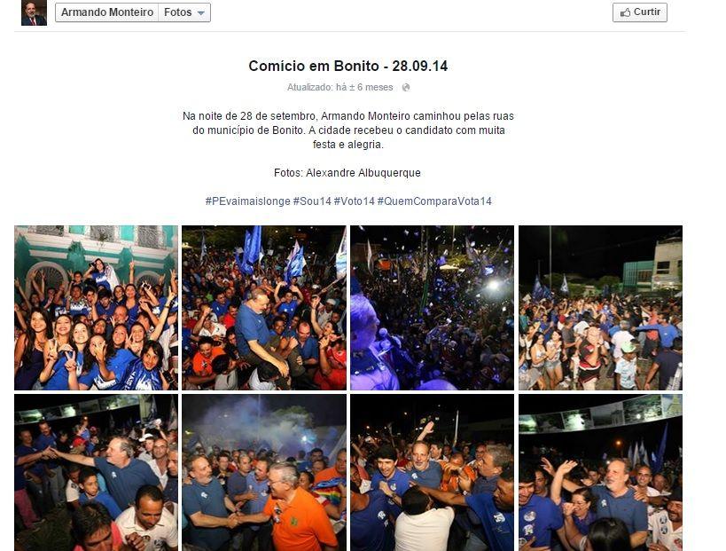 Publicação dos álbuns com as melhores fotos da campanha junto à descrição dos momentos.