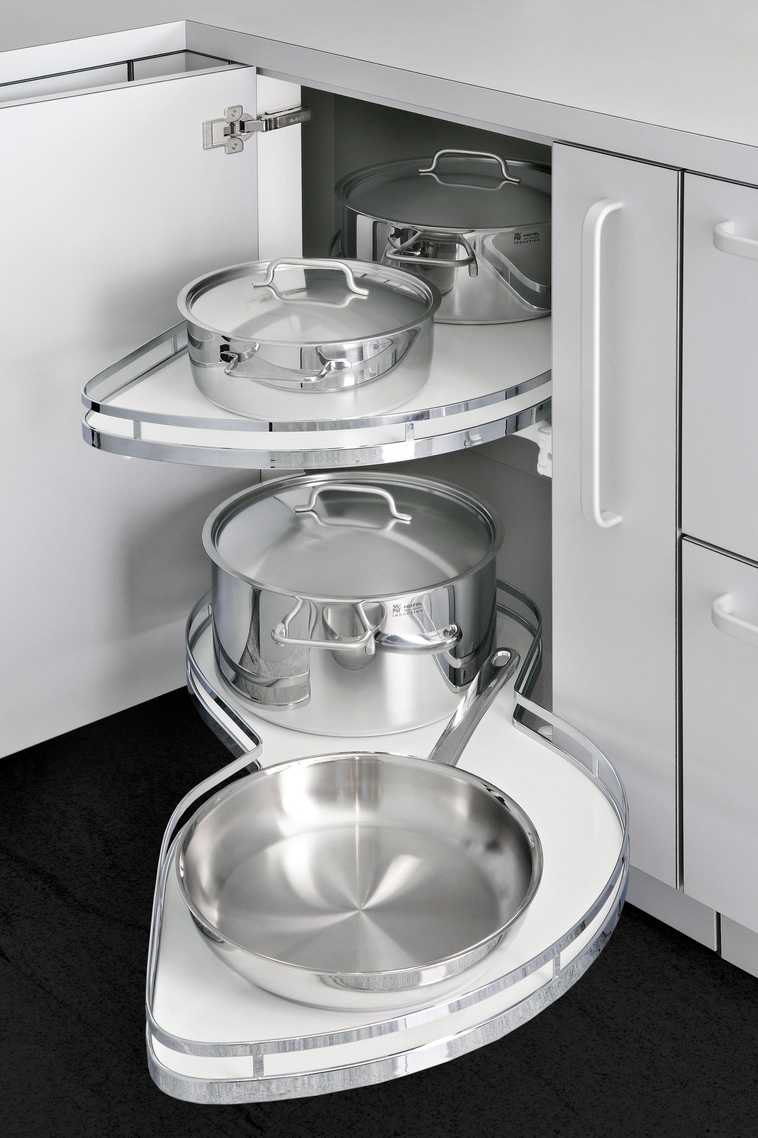 Chrome Blind Corner Pull Out Kitchen Cabinet Storage Kitchen Furniture Design Small Kitchen Storage