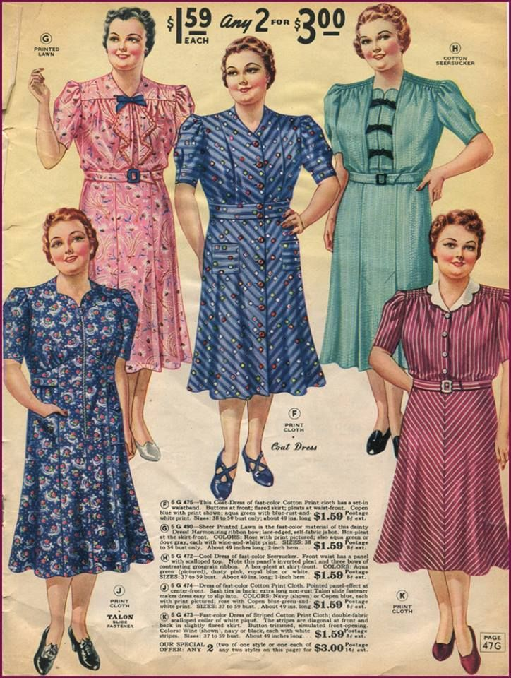 f708e0ad191 1940s Plus Size Clothing  Dresses History