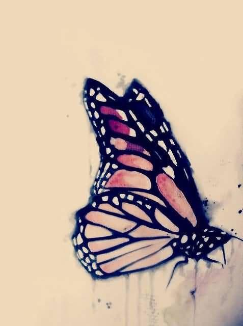 Flying Monarch Butterfly Tattoo Design Stencil Monarch Butterfly Tattoo Butterfly Tattoo Butterfly Tattoo Designs