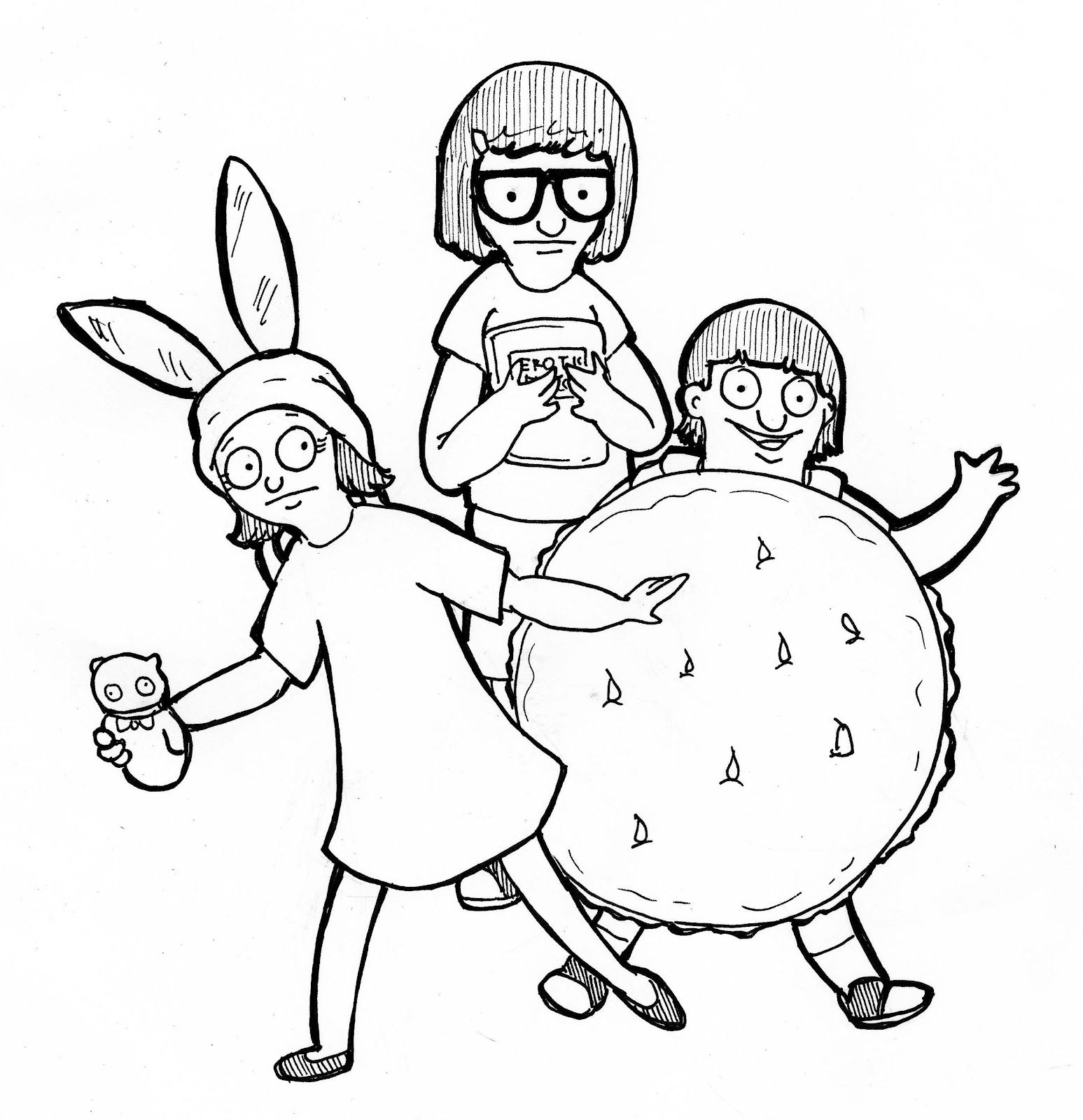 Bobsburgers Jpg 1547 1600 Unicorn Coloring Pages Cartoon