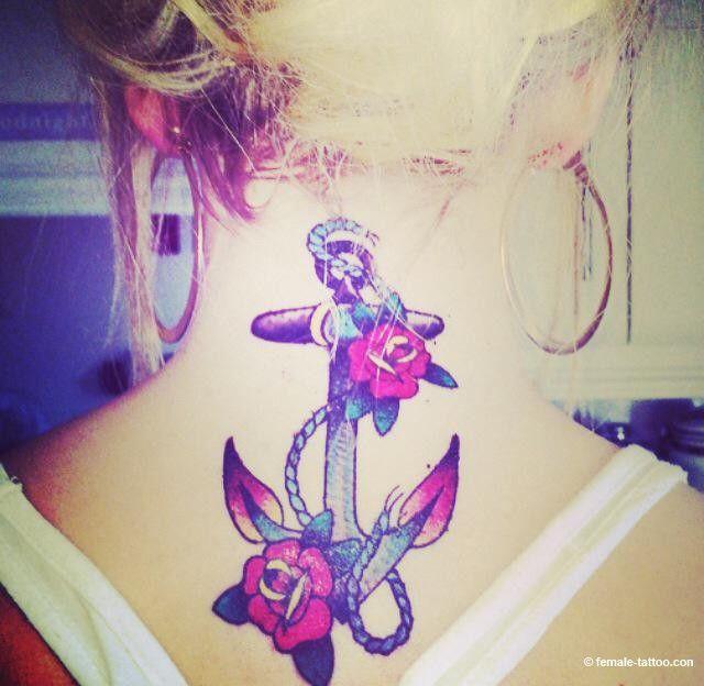 female tattoos anchor rose tattoo female tattoos. Black Bedroom Furniture Sets. Home Design Ideas