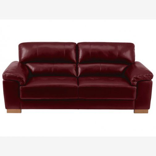 Monza 3 Seater Sofa Burdy Leather