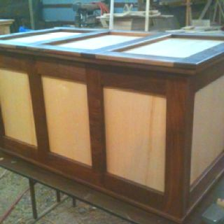 Maple and walnut cedar chest I built for daughter's Christmas present. Retail $850