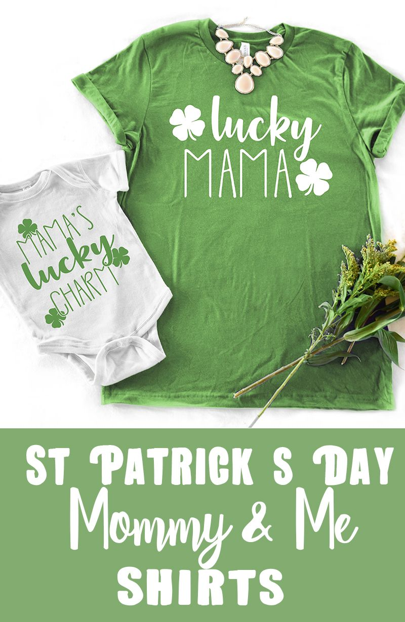 f83429ca9 Lucky Mama + Mama's Lucky charm! These are so cute! I love matching mommy  and me outfit ideas, and this one would be perfect for st patrick's day!