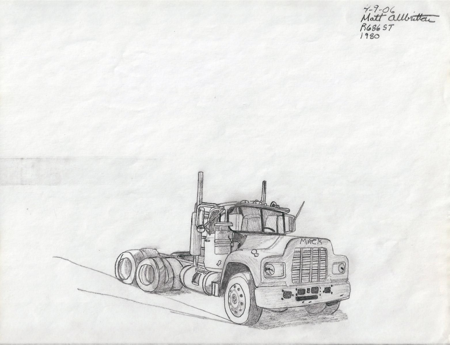 Mack Classic Truck Drawings Google Search Coloring