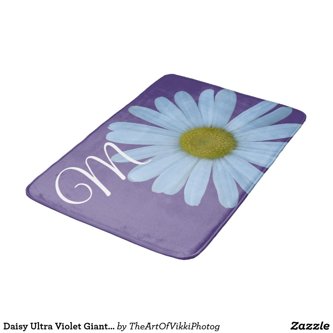 Daisy Ultra Violet Giant Flower Fun Monogram | Personalized Home ...