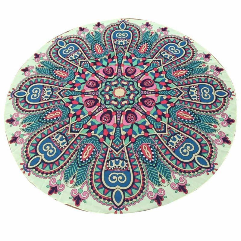 Women round chiffon tapestry beach throw towel yoga mat for women 20   polyester  print  fits  true  to  size 5ee69c691f
