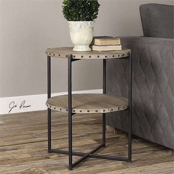 Uttermost Kamau Round Accent Table 24532 In 2019 Round Accent