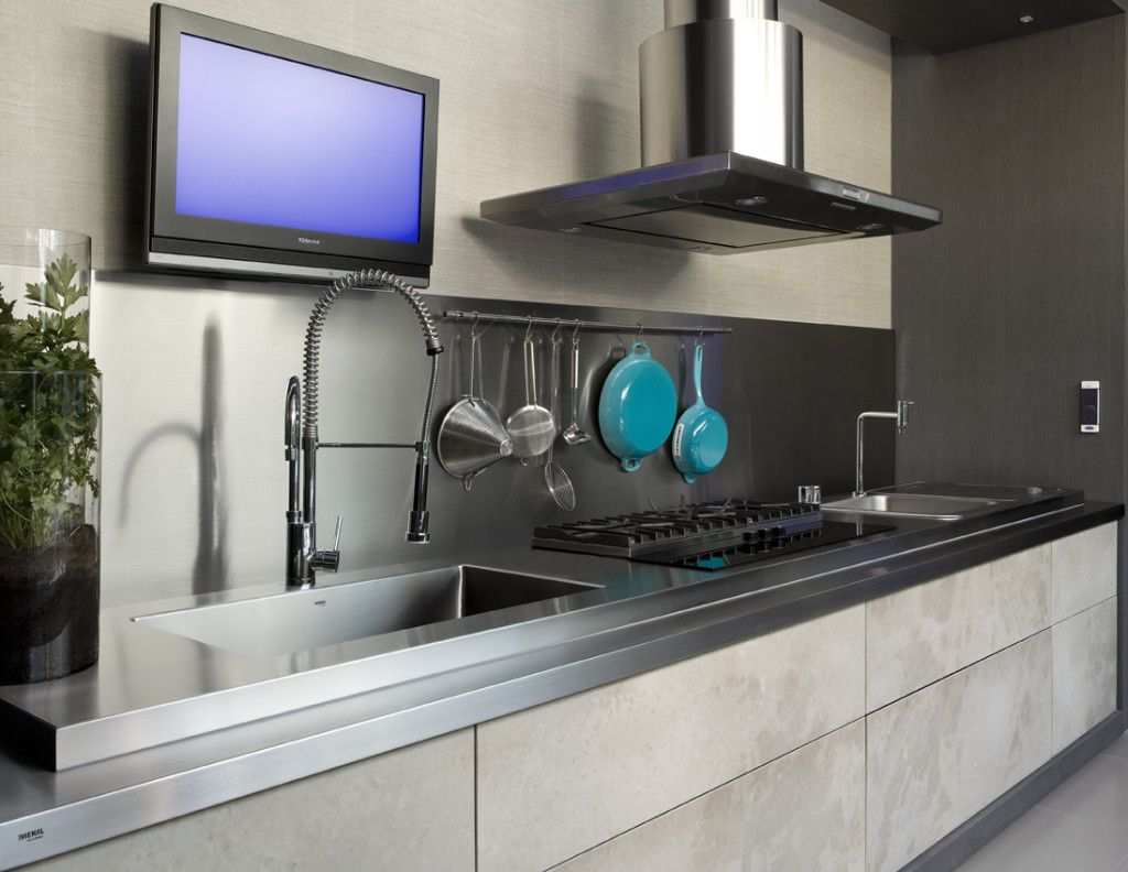bancada-inox-cozinha-cuba-fogao-cooktop-modelos-modernos-decor-salteado-5 | Cozinha  inox, Cozinha, Designs de cozinha