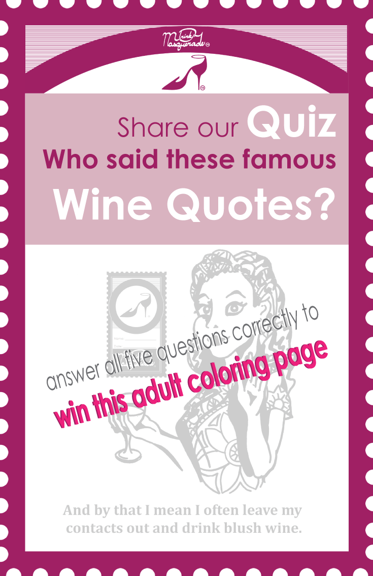 graphic about Printable Wine Trivia Questions and Answers called Who explained People wine prices? Get a absolutely free grownup coloring site