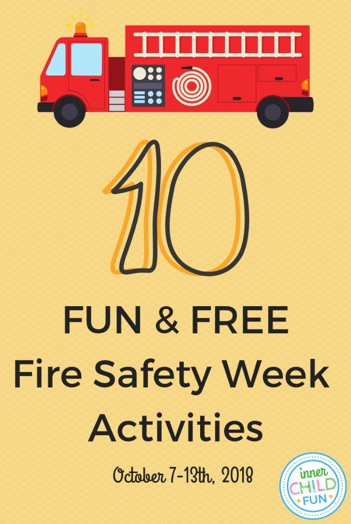 10 Fun and Free Fire Safety Week Activities Fire safety