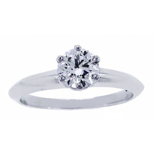 b5c31fdbb Pre-owned Tiffany & Co. Platinum and Diamond Engagement Ring ($6,450 ...