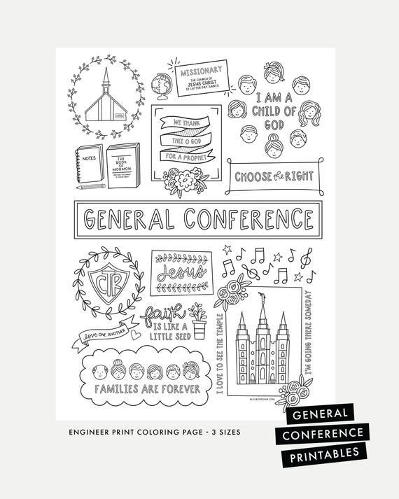 general conference coloring pages  come follow me
