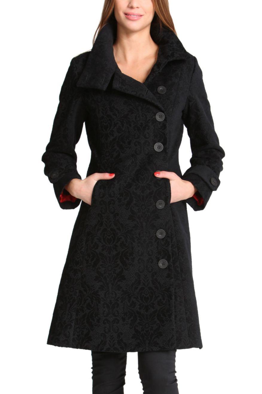 Manteau desigual noir trizia