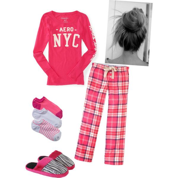 A fashion look from February 2013 featuring Aéropostale t-shirts, Jack Wills pajamas and American Eagle Outfitters socks. Browse and shop related looks.