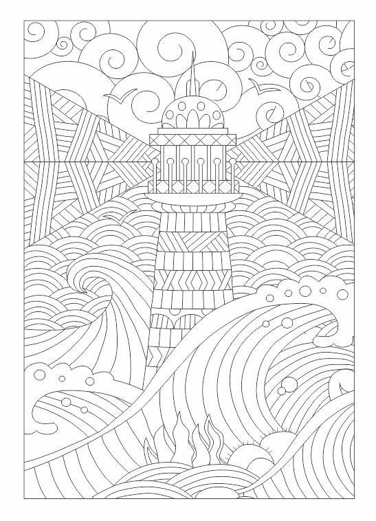 Lighthouse zentangle Zentangles Adult Colouring Pinterest