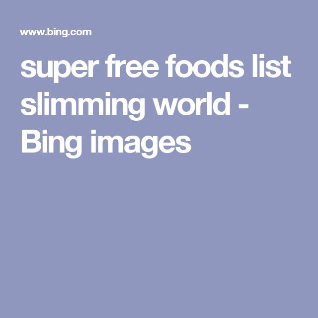 super free foods list slimming world - Bing images