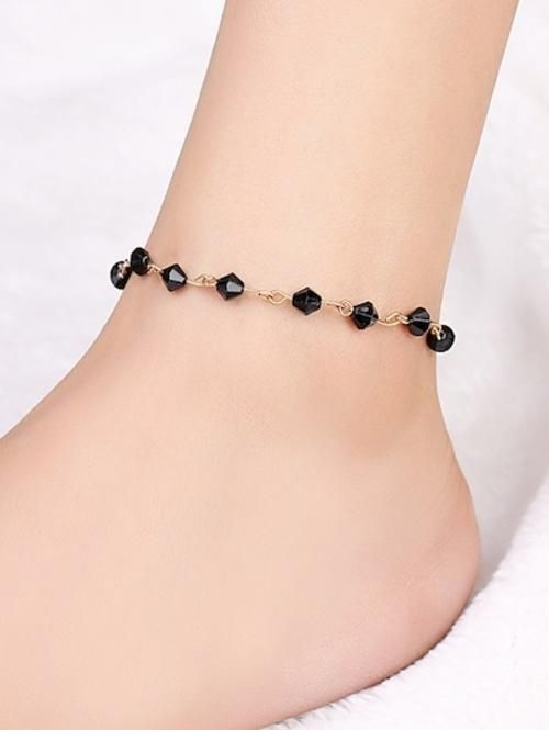 Length Cm 25 Cm Color Black Style Casual Types Anklet We