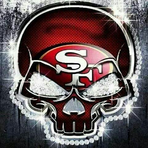 diamond skull san fran 49ers pinterest sf niners san