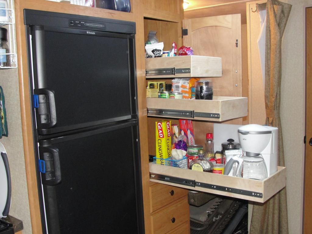 Diy installation of pantry slides this has been for Camper storage