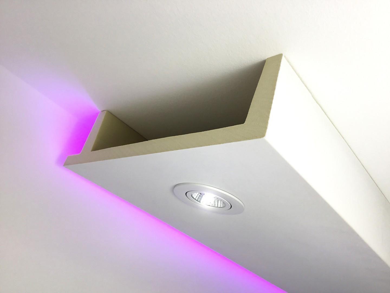 Hx Led 12 Deckenkasten Lichtleiste Fur Led Spot Beleuchtung Aus Pu Hartschaum 80x300mm 200cm Lichtleiste Beleuchtung Indirekte Beleuchtung