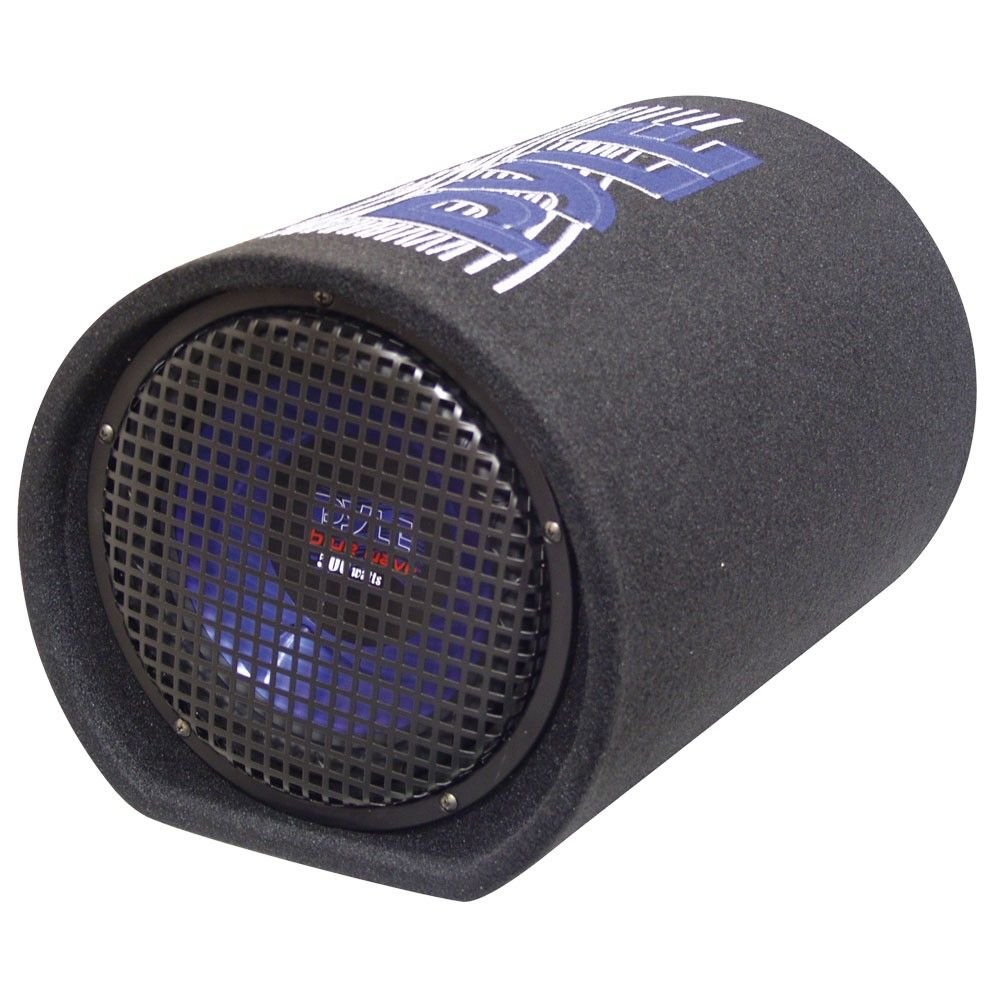 Pyle Pltb8 High Performance 8 Inch 400 Watt Enclosed Cylindrical Carpeted Tube Vehicle Car Audio Subwoofer Speaker Sound System Black Subwoofer Speaker Car Audio Subwoofers Car Subwoofer